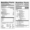 current & proposed nutrition facts label