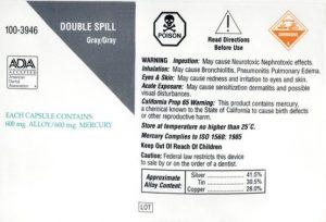 dental amalgam label