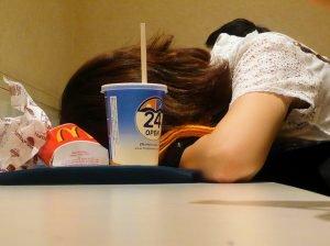 sleeping at McDonalds