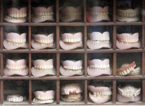 cabinet full of dentures