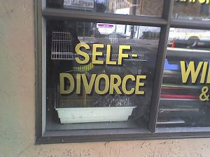 self-divorce sign