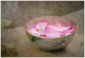 bowl of flower petals