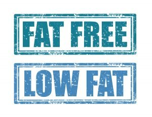 fat-free low-fat labels