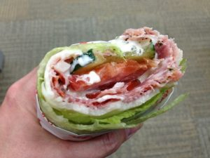 low-carb, high-fat sandwich