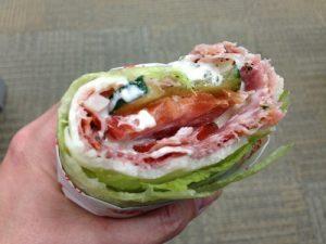 low-carb, high-fat sandwich