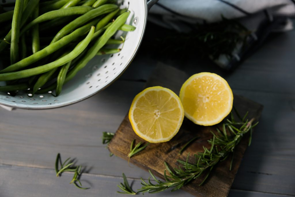 green beans with lemon and rosemary