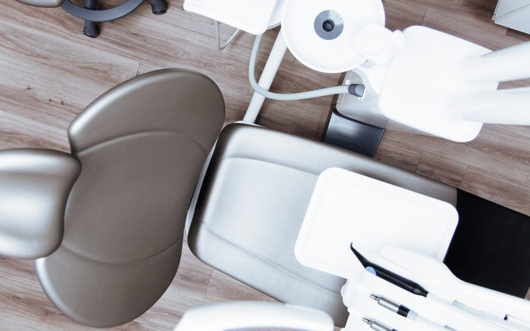 dental chair viewed from above